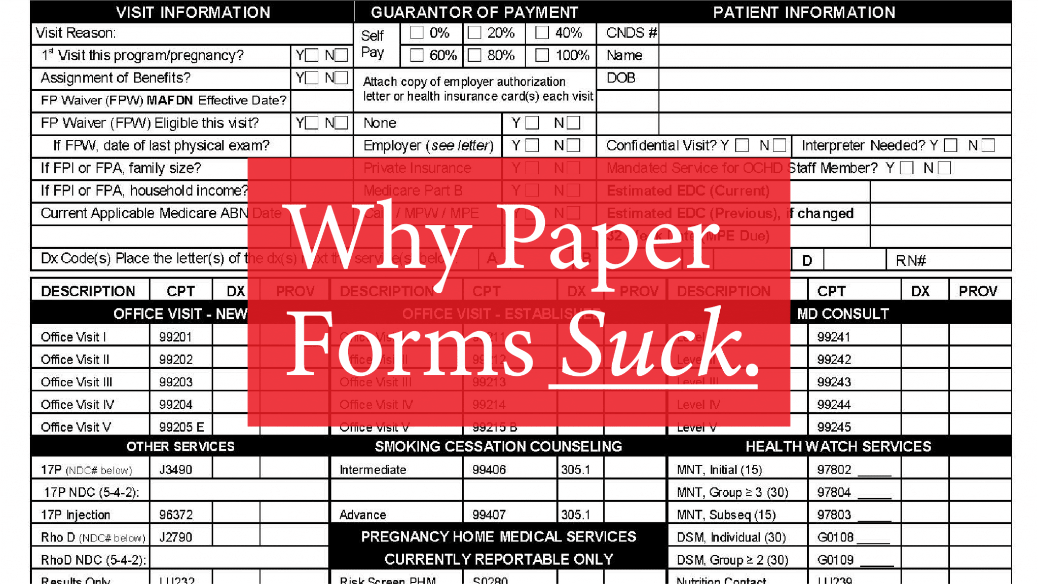 paper forms suck