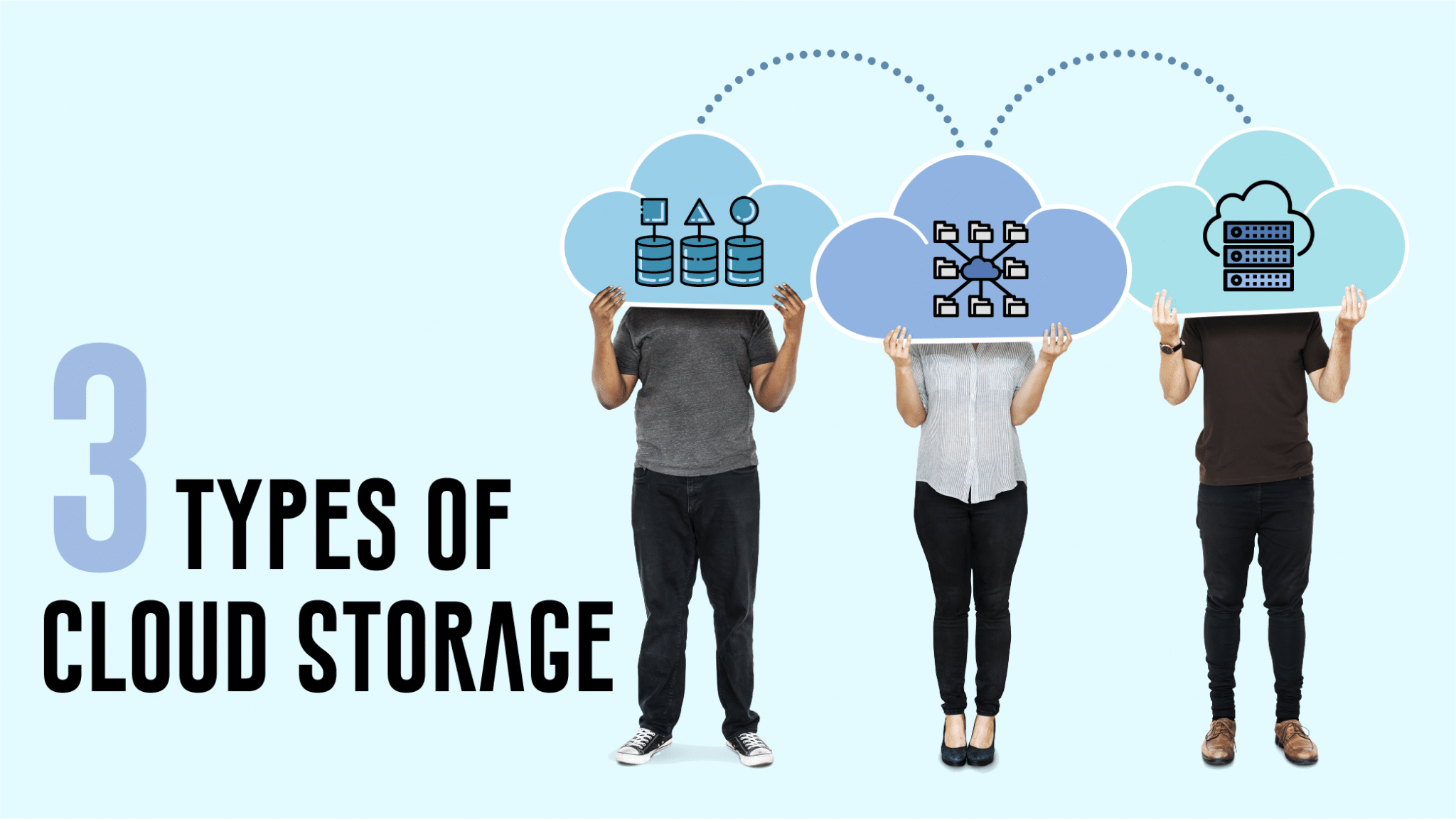 3 types of cloud storage title